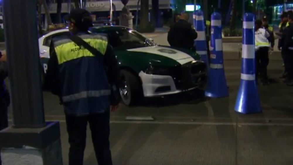 Atropellan a mujer policía en punto de alcoholímetro - Foto de Noticieros Televisa