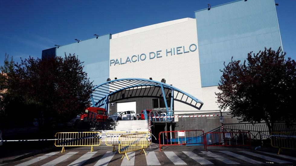 Madrid utilizará centro comercial como morgue para víctimas de coronavirus - Vista exterior del Palacio de Hielo de Madrid, centro comercial que servirá como morgue ante la saturación de funerarias públicas por víctimas de coronavirus. Foto de EFE