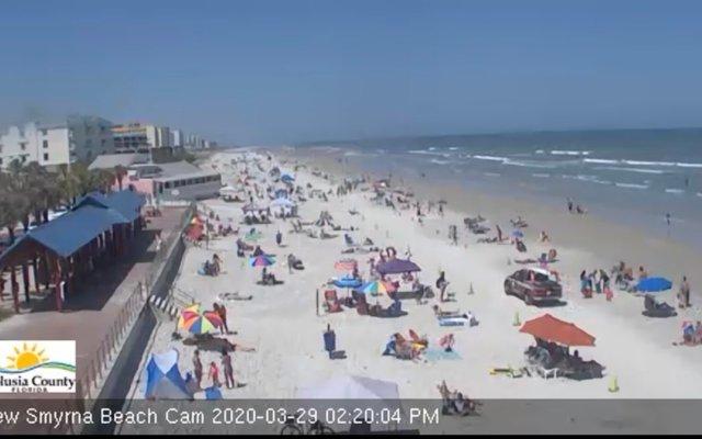 Pese a COVID-19 playas de Florida lucen llenas - Captura de pantalla
