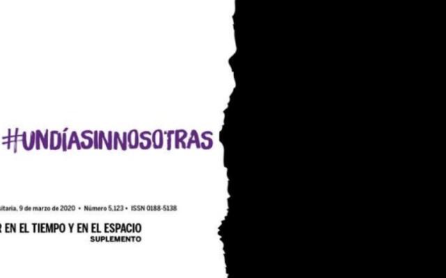 Dedica Gaceta UNAM portada a #UnDíaSinNosotras - Foto de Gaceta UNAM