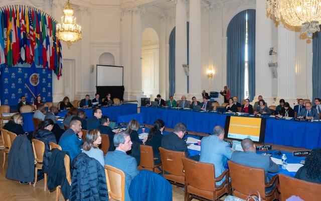 OEA convoca a renovar dirigencia el 20 de marzo - Reunión de la OEA. Foto de @oasoea