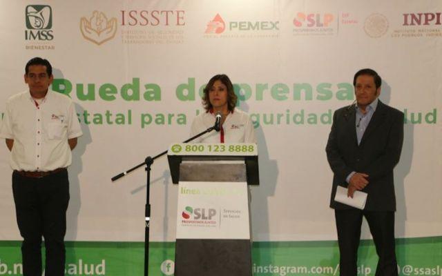 Confirman primera muerte por COVID-19 en San Luis Potosí - Autoridades de San Luis Potosí confirmando el primer deceso en la entidad. Foto de Facebook/ssaslp.