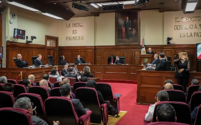 El proyecto en la Corte propone declarar inconstitucional consulta a los expresidentes. Hoy decide el Pleno - Actividades al interior de la SCJN. Foto de Notimex / Archivo