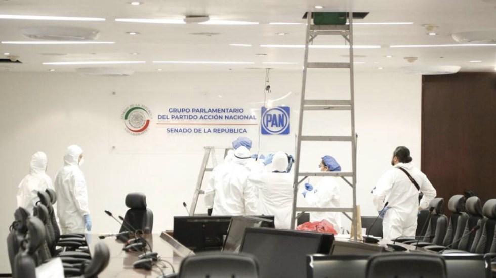 FGR inspecciona oficinas del PAN en el Senado tras denuncias de espionaje - Servicios Periciales FGR Senado PAN