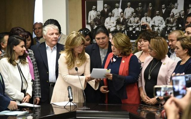 Presentan Ley Olimpia ante Congreso de Quintana Roo y Sonora - Foto de Twitter @ClaudiaPavlovic