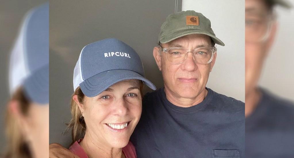 No le hemos contagiado el COVID-19 a nadie más, el mensaje de Tom Hanks - Tom Hanks y Rita Wilson. Foto de @TomHanks