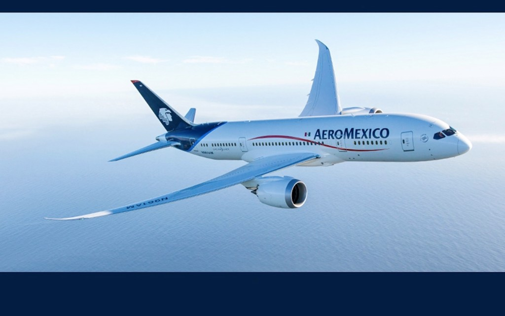 Seis aviones de Aeroméxico cruzan simultáneamente el Pacífico por primera vez - Foto de Twitter Aeroméxico
