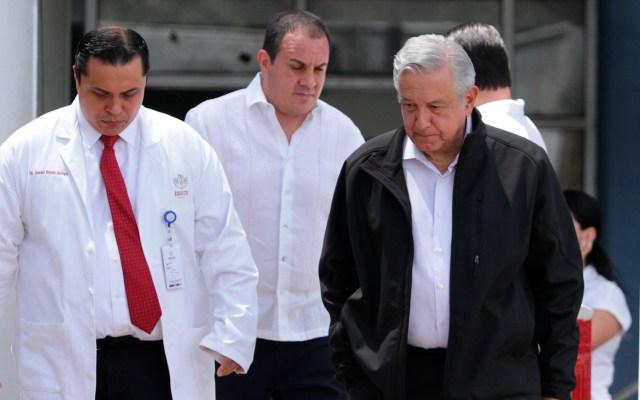 López Obrador se somete a medidas sanitarias durante gira en Cuernavaca - López Obrador AMLO Cuernavaca coronavirus COVID-19