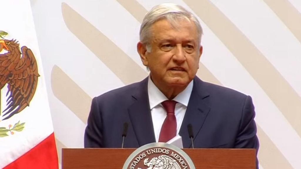López Obrador durante su informe. Captura de pantalla.