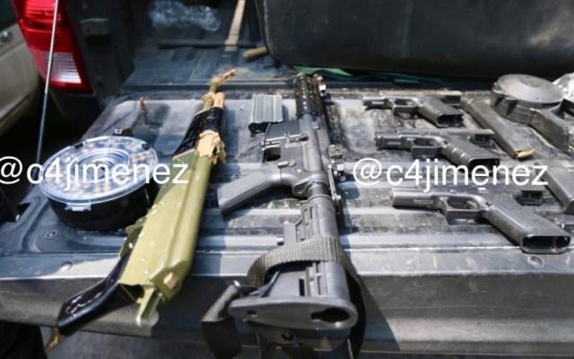 Detienen a cinco con arsenal y droga en la alcaldía Miguel Hidalgo - Foto de @c4jimenez