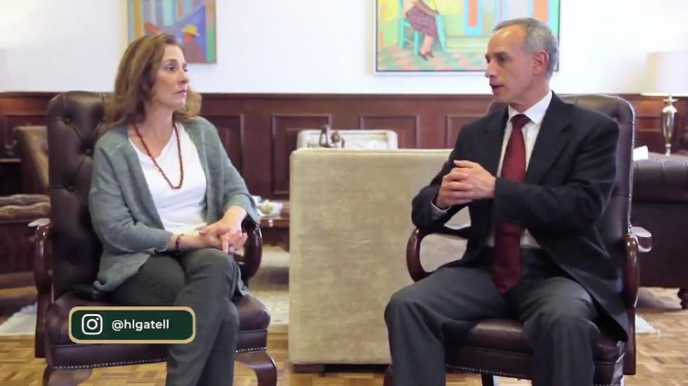 Gutiérrez Müller y López Gatell mandan mensaje a niños en cuarentena - Foto de captura de pantalla