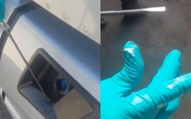 Guardia Nacional halla crystal líquido oculto en tanque de combustible en Sonora - Guardia Nacional droga Sonora crystal