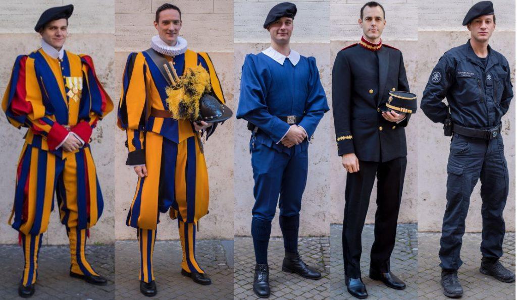 Guardia Pontificia Suiza uniformes