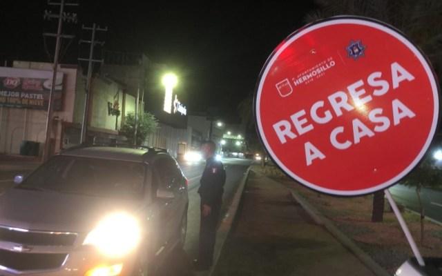 Aplican más de 100 infracciones en Hermosillo por desatender medidas sanitarias - Hermosillo Sonora COVID-19 retén