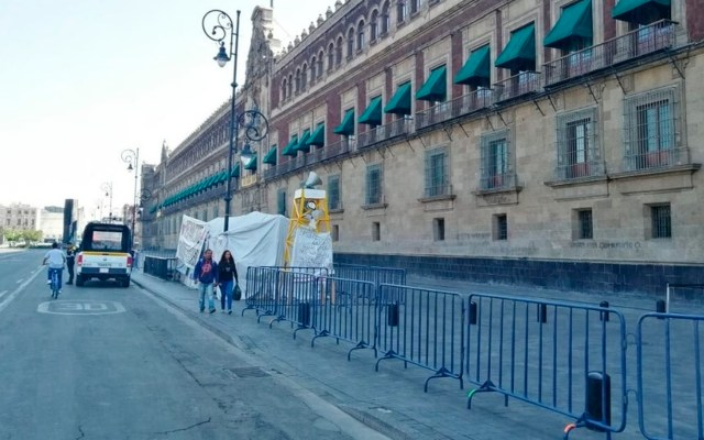 Gobierno capitalino cerca Palacio Nacional por COVID-19 - Palacio Nacional coronavirus COVID-19