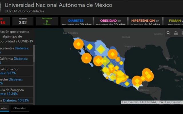 Instala UNAM plataforma de información geográfica sobre COVID-19 en México - Foto de UNAM