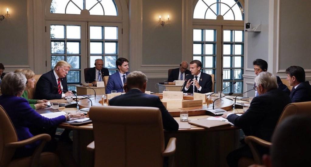 Emmanuel Macron defiende a la OMS ante Trump y G7 - Reunión del G7 en junio de 2018. Foto de @emmanuelmacron / Archivo