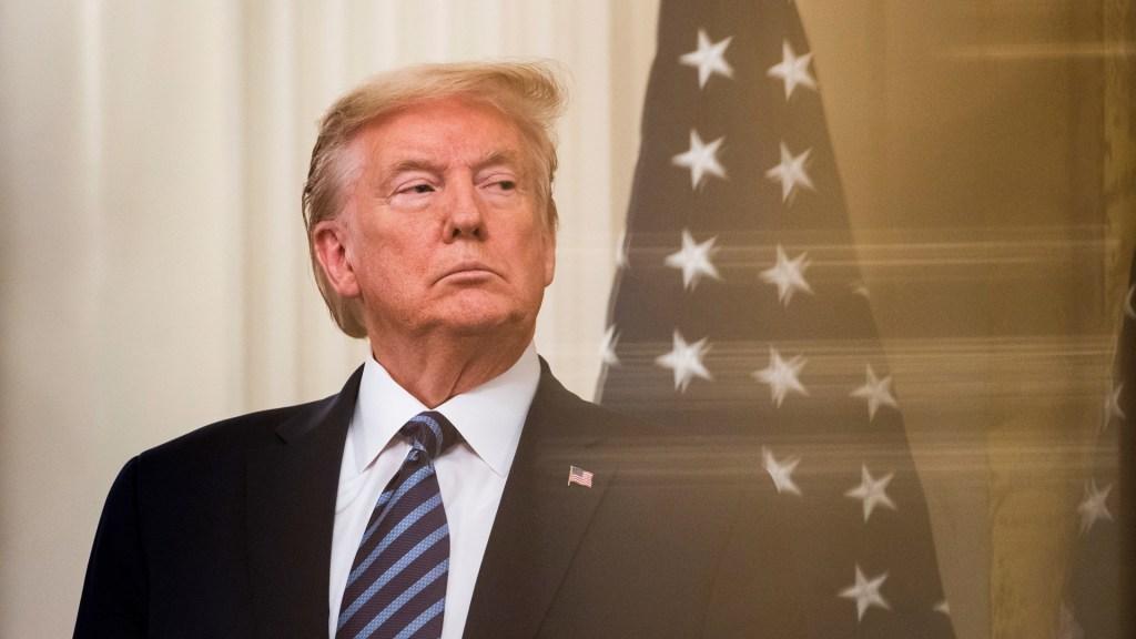 Demócratas concluyen alegatos en juicio político; Trump no tuvo remordimiento, acusan - Trump durante conferencia desde la Casa Blanca. Foto de EFE