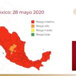 Según semáforo de COVID-19, todo el país, a excepción de Zacatecas, en riesgo máximo por coronavirus