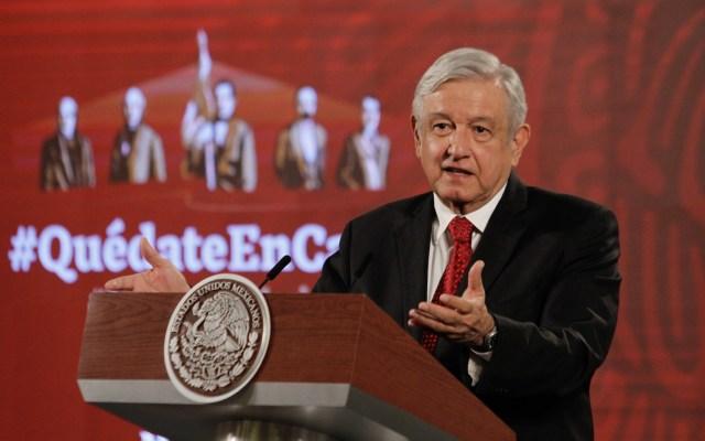 """""""Yo no tengo confrontación con los medios. Son los medios los que atacan al gobierno"""": AMLO (18-05-2020) - 200518012. Ciudad de México, 18 May 2020 (Notimex-Romina Solis).- El presidente Andrés Manuel López Obrador durante su conferencia matutina del día de hoy. Ciudad de México, 18 de mayo de 2020. NOTIMEX/FOTO/ROMINA SOLIS/RSF/POL/4TAT"""