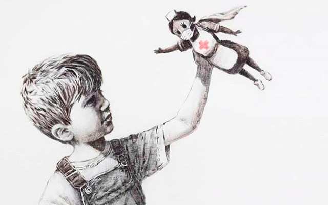 Banksy rinde homenaje a personal médico - Banksy coronavirus COVID-19