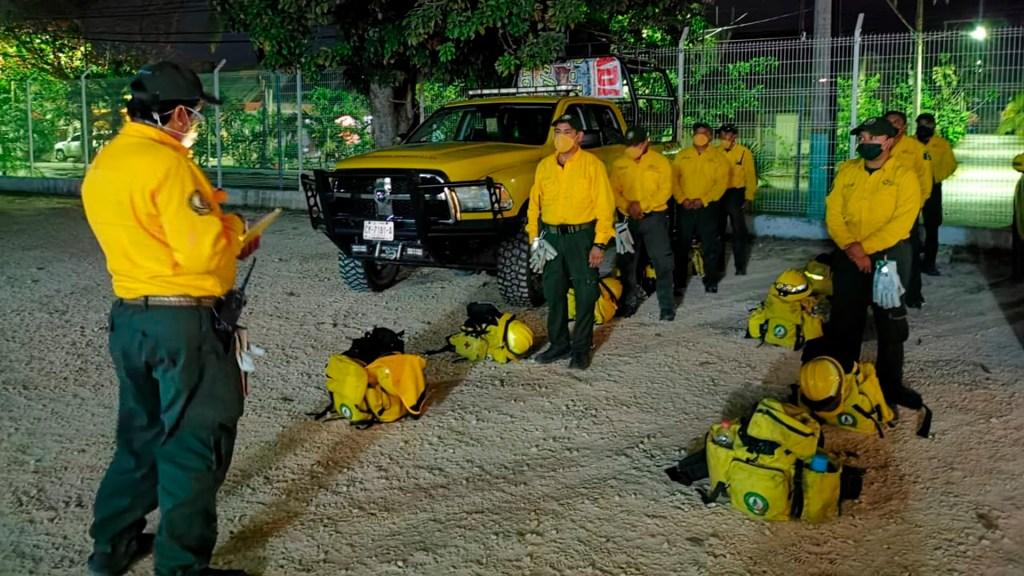 Brigadistas trabajan para sofocar 11 incendios forestales en Quintana Roo - brigadistas incendios quintana roo
