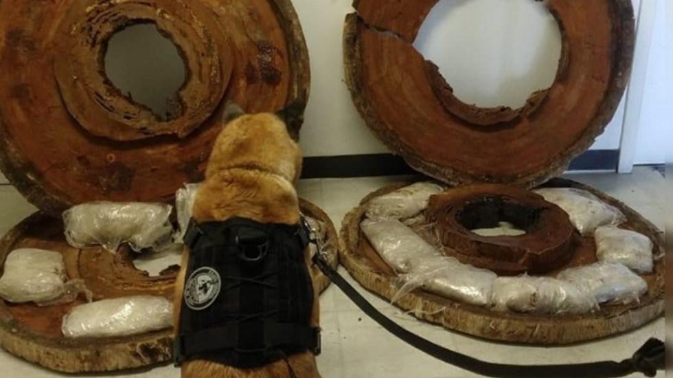 "Guardia Nacional encuentra ""crystal"" oculto en piezas de madera - Crystal metanfetamina drogas Tijuana Guardia Nacional"