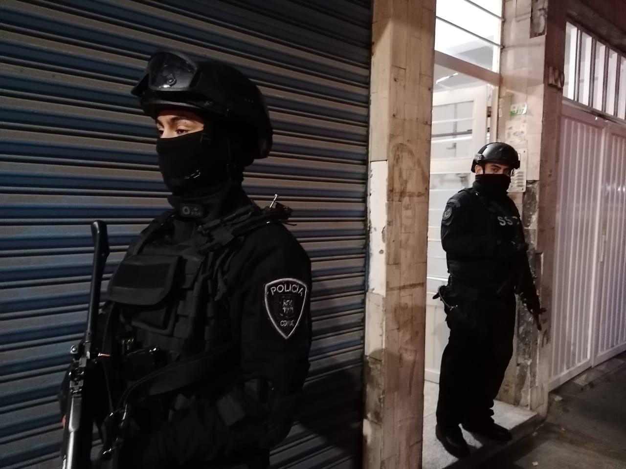 El operativo, en la colonia Guerrero, de la detención del hermano de 'El Lunares'. Foto Especial.