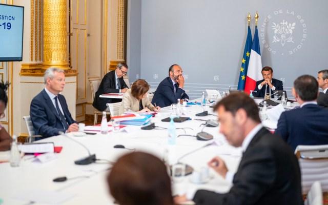 Macron pide respuesta colectiva a la crisis por COVID-19 y más solidaridad con África - Emanuel Macron en reunión sobre COVID-19
