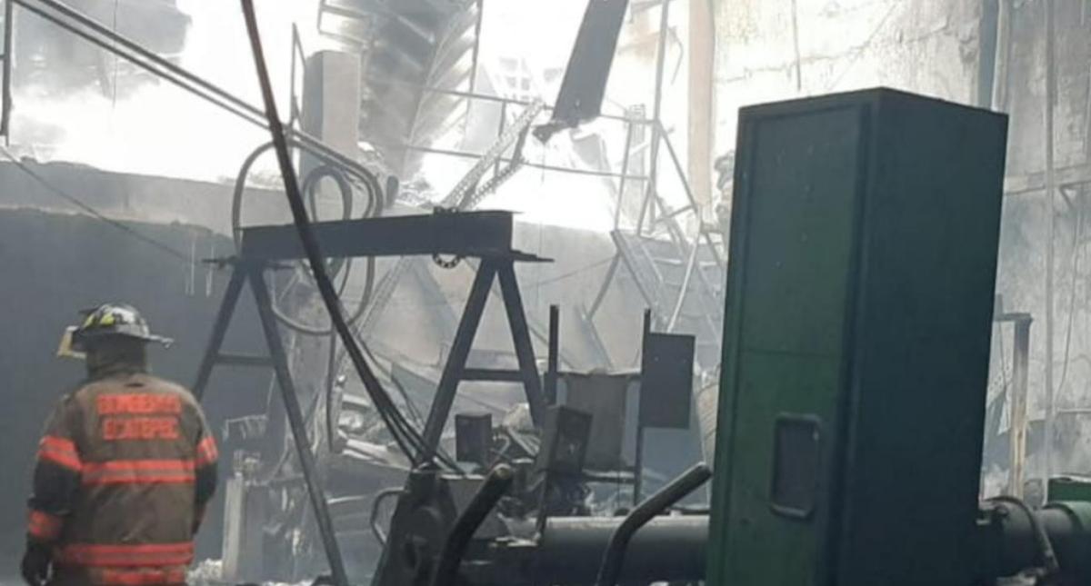 Incendio Tlalnepantla fábrica hules 2