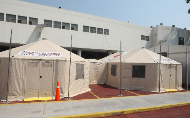 Instalan hospital provisional en el INER para atender COVID-19 - INER hospital temporal COVID-19 coronavirus México