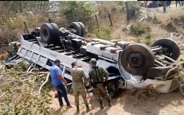 Volcadura de unidad de la Guardia Nacional en Jalisco deja siete heridos - Jalisco Guardia Nacional accidente volcadura Villa Purificación