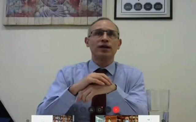 #Video Senadora acusa a López-Gatell de violencia política de género - López-Gatell en comparecencia ante el Senado de la República. Captura de pantalla