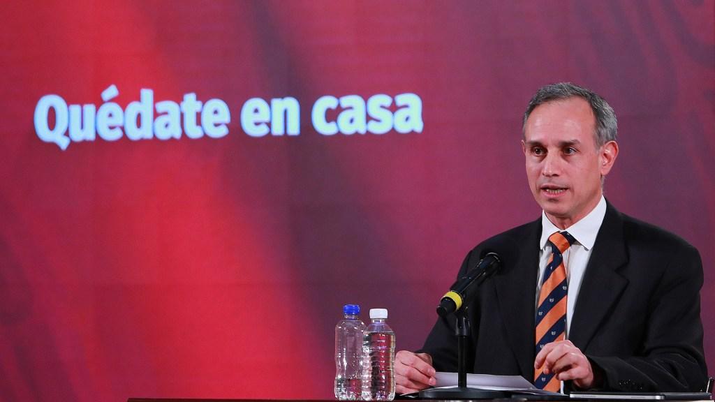 El desconfinamiento que anunciaremos no será una liberación completa: López-Gatell - López-Gatell en conferencia de prensa sobre Salud. Foto de Notimex