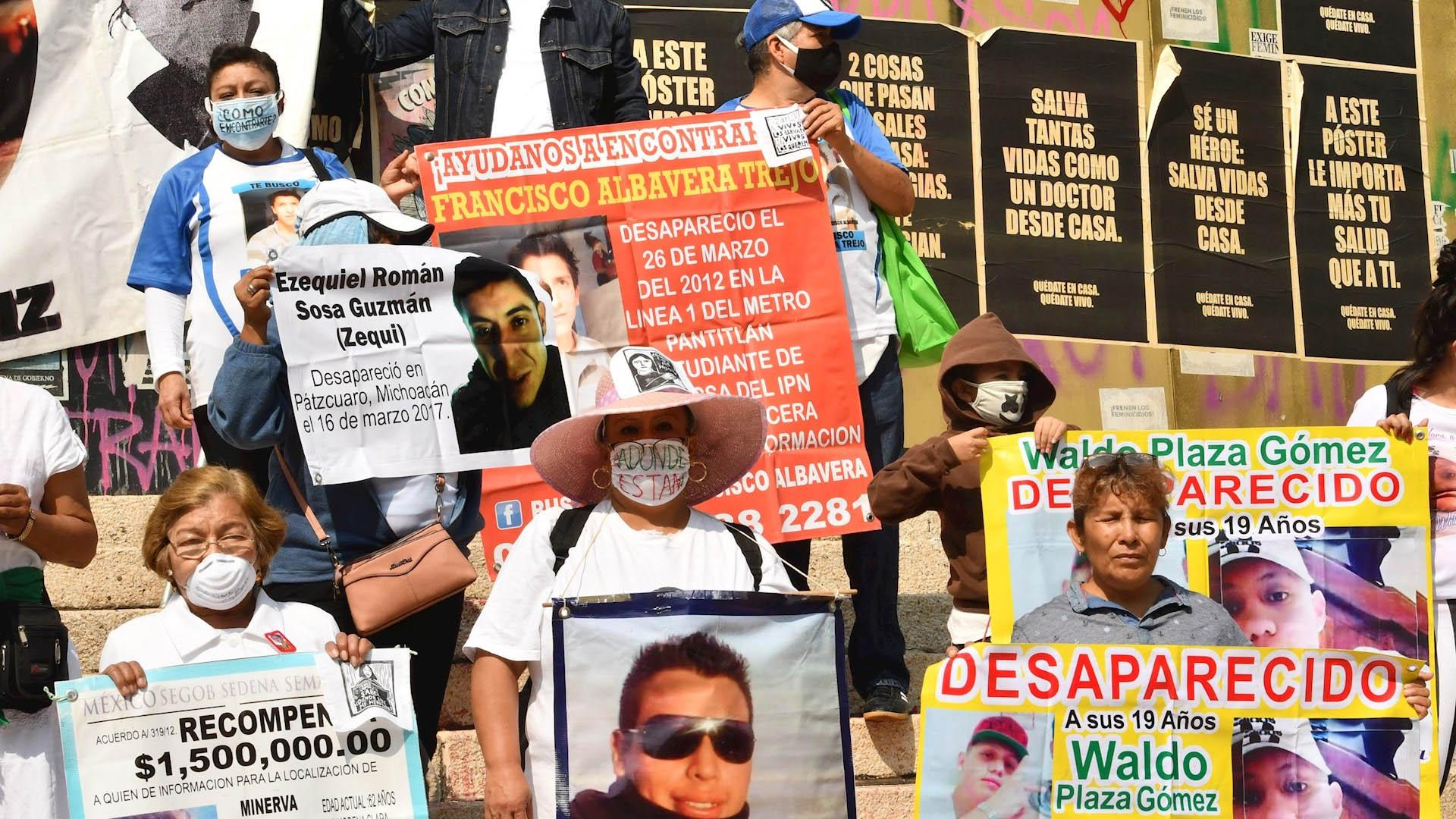 Madres de desaparecidos México protesta