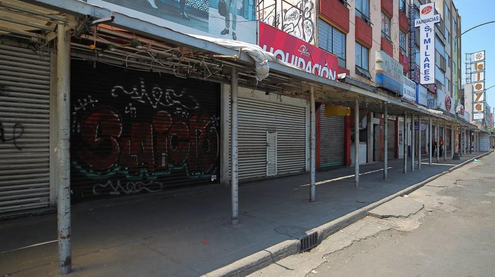 Prevé Canaco pérdidas por 48 mil mdp en CDMX por regreso a Semáforo Rojo - Negocios cerrados por crisis económica del COVID-19. Foto de Notimex