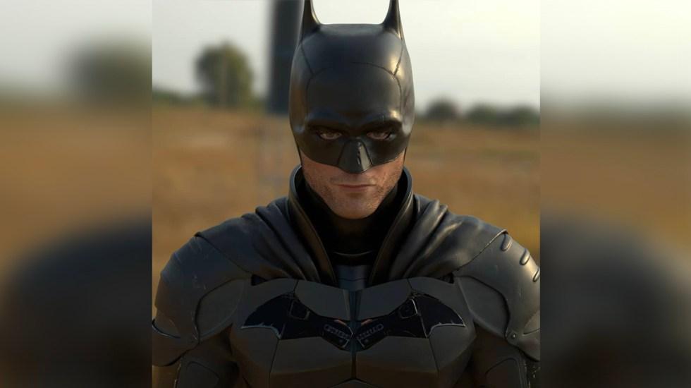 #VIRAL Comparte artista retrato 3D de Robert Pattinson como Batman - Retrato 3D de Robert Pattinson como Batman