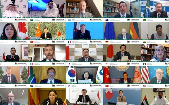 Ministros de Comercio del G20 acuerdan acciones contra impactos de pandemia - Segunda Reunión Extraordinaria de ministros de Comercio del G20. Foto de @g20org