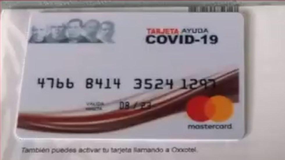 Reiteran alerta por fraudes a nombre de la Secretaría de Bienestar - Tarjetas falsas de supuesto programa emergente de ayuda ante el COVID-19. Foto de @bienestarmx