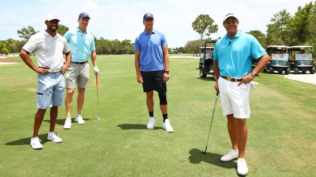 Torneo de golf con Tiger Woods y Tom Brady tuvo audiencia récord en EE.UU. - The Match. Foto de @YahooSports