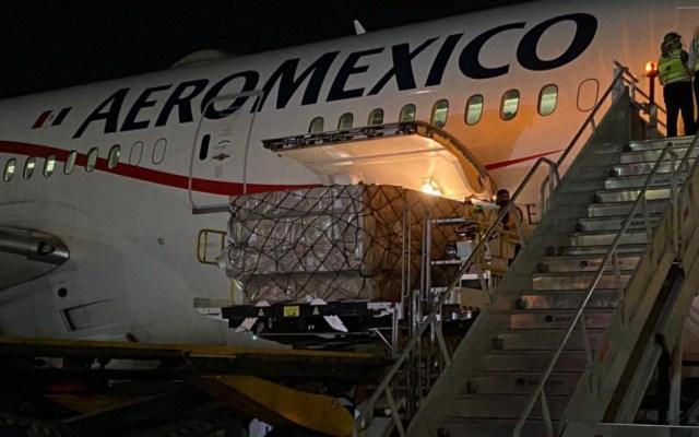 Llega a México noveno vuelo con insumos médicos de China - Vuelo Shanghái México AICM insumos médicos noveno