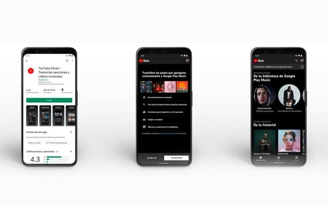 Inicia la mudanza de contenido de Google Play Música a YouTube Music - Desde este martes los usuarios de Google Play Música podrán transferir fácilmente sus bibliotecas de canciones, preferencias y listas de reproducción a YouTube Music