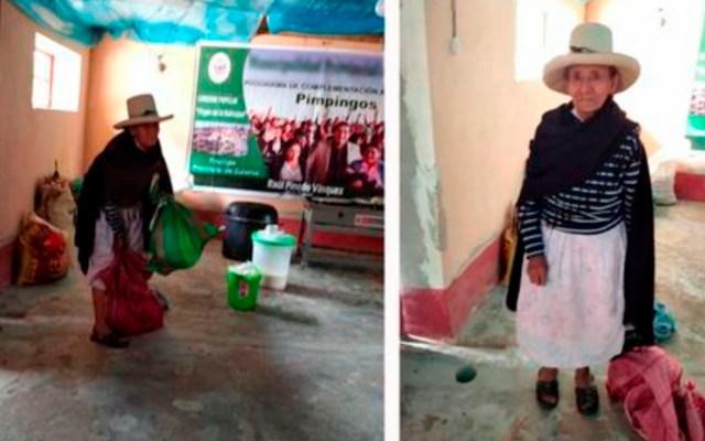 Anciana de Perú dona cosecha para enfermos de COVID-19 - abuelita perú coronavirus COVID-19