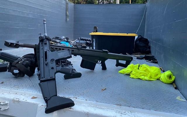 Comando usó fusil calibre 50 en atentado contra García Harfuch - Armas utilizadas en el atentado contra el secretario de Seguridad Ciudadana de la CDMX, Omar García Harfuch