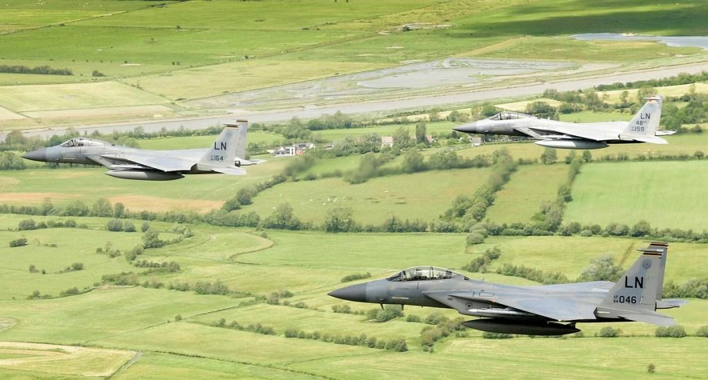 Se estrella en mar de Inglaterra avión de combate de la Fuerza Aérea de EE.UU. - Aviones F-15C