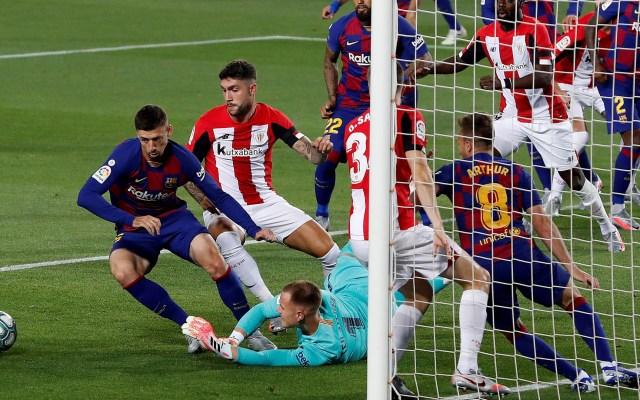 Rakitic mantiene con vida al Barça en LaLiga - Barcelona vs Athletic Club. Foto de EFE
