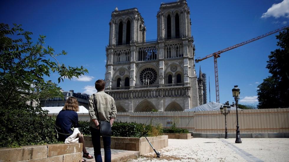 Cierran la plaza de la catedral de Notre-Dame por contaminación de plomo - Catedral de Notre-Dame. Foto de EFE