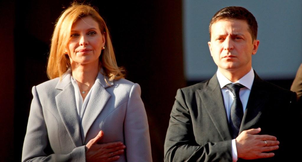 Hospitalizan a esposa del presidente de Ucrania por COVID-19 - El presidente de Ucrania, Vladímir Zelenski, y su esposa Elena Zelenskaya