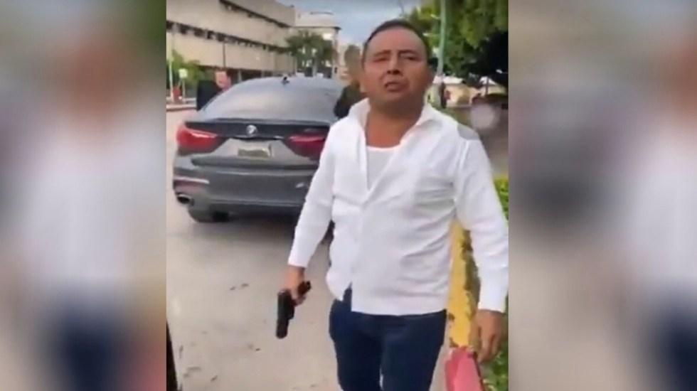 Detienen a escolta que disparó contra expareja de hija del gobernador de Chiapas - Captura de pantalla