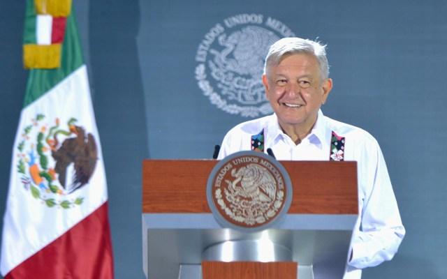 """PAN asegura que no pide la renuncia de AMLO sino que """"se ponga a trabajar"""" - López Obrador en conferencia de prensa desde Yucatán. Foto de lopezobrador.org.mx"""